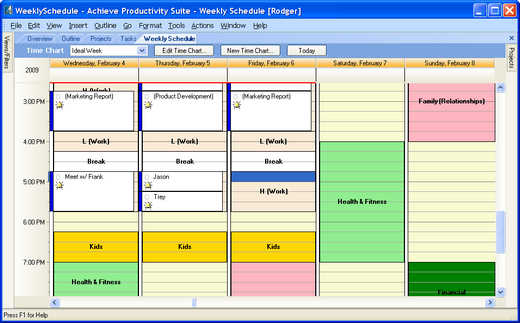 Time management software get things done with achieve for Computer planner software