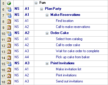 party planning outline