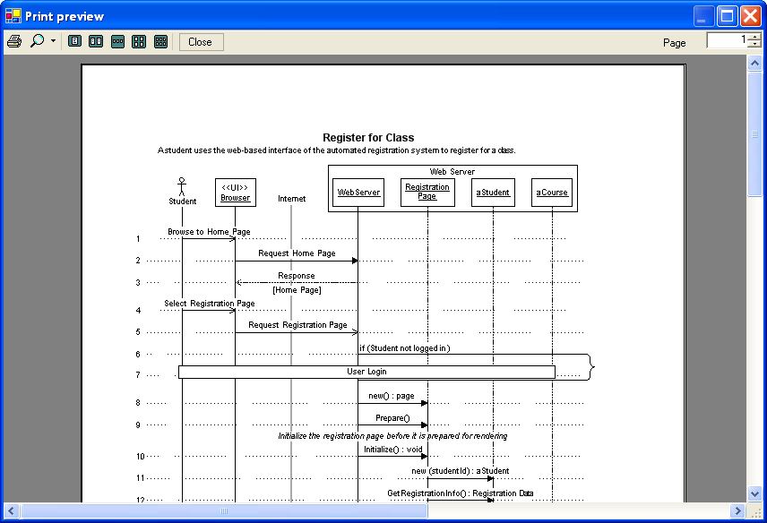 Effexis sequence diagram editor screen shots after youre done you can print diagrams directly or export to pdfrtf ccuart Image collections